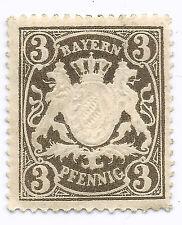 Bayern Penny 3 Stamp 1849-1910