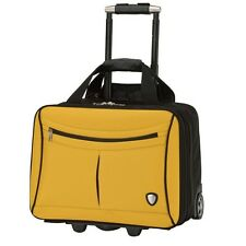 "New Lamborghini Yellow and Black Trolley Case, Lamborghini 18.5"" Carry On Bag"