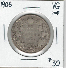 Canada 1906 Silver 50 Cents VG Imp.