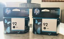 HP 92 Black Ink Cartridge Expired Feb 2014 2 pieces sealed