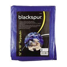 Blackspur TELONE BLU 3.6m x 5.4m Edificio gazebo campeggio Legno Copertura Nuovo