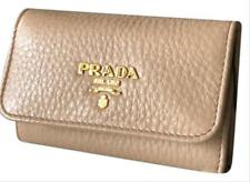 28751a8636d7 NEW Prada Cammeo Beige Leather Key Holder Wallet