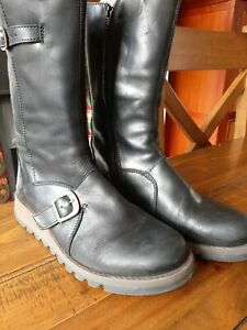 Fly London Mes 2 Black Mid Calf Boots 8 (41)