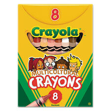 Crayola Multicultural Crayons 8 Skin Tone Colors/Box 52008W