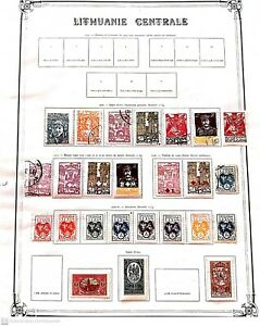 [20 214]- CENTRAL LITHUANIA 1920  -destocking stamps price MVH* / CANCEL