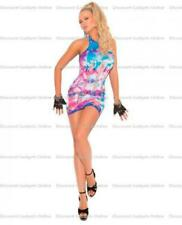 54f87c1d52ef Neon Tie Dye Mini Dress Pothole Multi Color OS Lingerie Sexy Clothing