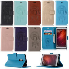 Owl Wallet Leather Flip Case Cover For Xiaomi Mi 5S 5X 6 Redmi 3S 4A Note 4X 5A