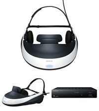 Mint Sony 3D Viewer Head HeadSet Mounted Display Glasses Wireless HMZ-T1 Japan