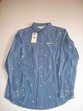 Lee Regular Western Shirt Hemd Gr. S Beyound Blue *NEU*