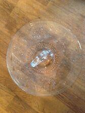 Vintage Depression glass round handled clear glass sandwich snack dessert plate