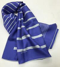 "HERMES Purple Gray Gradient Stripe Silk Twill 34"" Scarf"