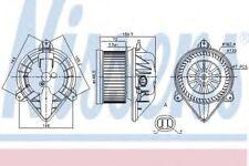 Nissens Interior Cabin Blower Fan 87173 Replaces 2761400QAC,4409448,7701050310