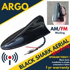 12v Black Shark Fin Aerial Aero Car Antenna Radio Gps Working Am Fm Mast Roof