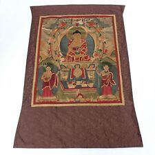 Antique Chinese Collection Buddha Silk Tapestry Embroidery Tangka