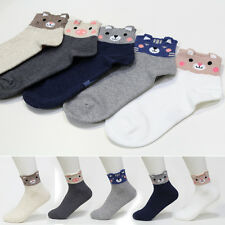5 Pairs Animal Socks Womens Big Kids Ankle Casual Character Socks MADE IN KOREA