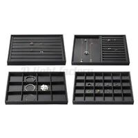 Jewelry Box Display Tray Ring Earring Necklace Storage Case Holder Organizer