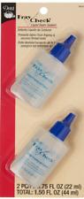 Dritz Fray Check Liquid Seam Sealant Glue Bonus Value Pack - 2 Bottles 3/4 Oz.