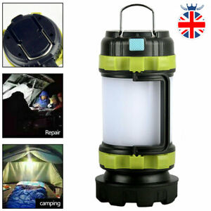 5 In 1 Camping Tent Lights Torch USB Rechargeable LED Lantern Outdoor Portable