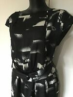 Size 16 Silky Satin Black Sexy Dress