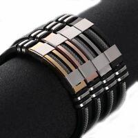 2020 Unisex Women Men Stainless Steel Braided WristBand Bangle Bracelet Handmade