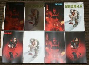 BOOM! Brzrkr #4 NINE COVER SET ACTUAL PHOTOS A-D, 2x 1:50, 2x 1:25 & 1:100!!