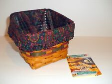 Longaberger 1998 Finder's Keepers Basket, Paisley Liner & Protectorr