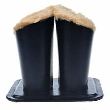 Eyeglass Holder, Black PU Leather Glasses Stand Case, Plush Lined Protective