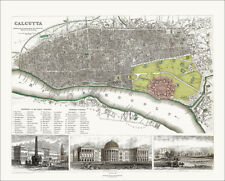 Dispatch Atlas 1863 Map Weller East Indian Railway Calcutta-raniganj Bengal