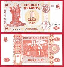 R* MOLDOVA BANKNOTE 10 LEI 2013 UNC CONDITION CRISP