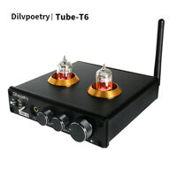 Dilvpoetry Tube T6 CM6642 NE5532 QCC3008 6*1N RCA USB Bluetooth Tube Amplifier