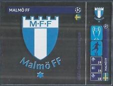 PANINI UEFA CHAMPIONS LEAGUE 2014-15- #008-MALMO FF BADGE-SILVER FOIL