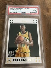 2007 Topps Basketball #2 Kevin Durant RC White Rookie Supersonics PSA 9 MINT