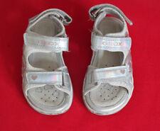 Kinderschuhe Sandalen Blinkies Geox Mädchen Gr. 25 silber Klettverschluss