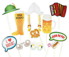 Pack of 12 - Oktoberfest Photo Stick Prop Birthday Photo Booth Paper Party Decor