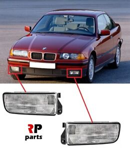 FOR BMW 3 E36 1990 - 2000 FRONT BUMPER FOGLIGHT LAMP WITH HOLDER FRAME PAIR SET