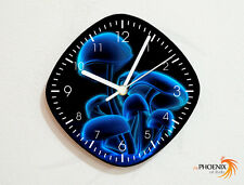 Ghost Mushrooms - Glow Psychedelic Drugs - Wall Clock