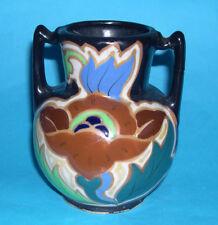 Art Pottery - Attractive Twin Handle Urn Vibrant Colour Design.(12.5cm tall).