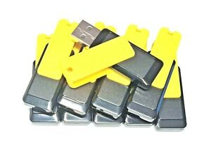 BULK JOBLOT 10 x 16GB Swivel USB Black Yellow Flash Drive Thumb Pen Stick Key