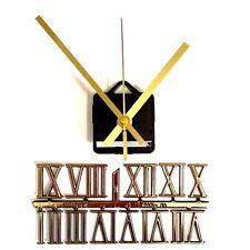 New Silent Quartz Clock Making Kit - 30mm Gold Roman Numbers - 119mm Gold Hands