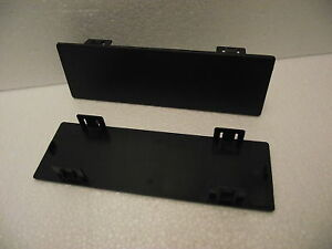 Double Single car radio stereo blank off clip in trim facia blanking plate