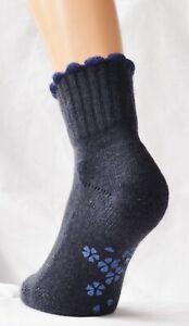 M&S Womens  1 Pair Angora Cashmere Blend Slipper/Gripper Socks.  NEW