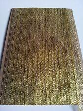 5M 10mm Gold Glitter Lurex Sparkle Organza Metallic Ribbon - Wedding Christmas