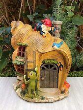 Miniature Dollhouse FAIRY GARDEN ~ Snail GNOME House with Solar Light