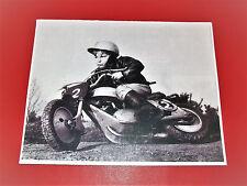 "WOW! VINTAGE MINIBIKE PHOTO OF A BOY RIDING HARD ON A MINIBIKE 10 1/2"" X 8"""