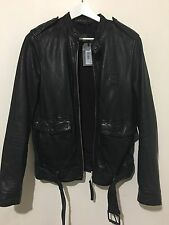 ALLSAINTS MEN'S DORSET LEATHER JACKET XS SIZE