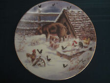 Country Christmas 1993 Collector Plate Lowell Davis Waiting for Mr Lowell Pigs