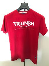 TRIUMPH ORIGINAL Dealer  t-shirt  size S Red  Logo