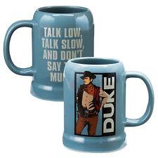 John Wayne Art Image and Duke Name Two-Sided 20 ounce Ceramic Stein Mug, UNUSED