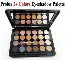 Prolux 24 Colors Eyeshadow Palette - Shimmer & Matte Natural Tones Shadows!