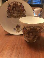 Salisbury Queen Elizabeth Coronation 1953 Cup & Saucer Bone China England